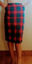 Sexy Retro Red Tartan Knee Length Pencil Skirt UK Size 8-10