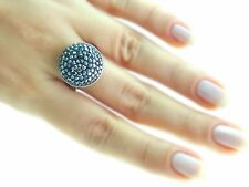 TURKISH HANDMADE JEWELRY SWAROVSKI SOLID 925 STERLING SILVER RINGS FOR HER S 5.5