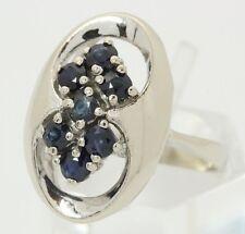 ♦♦14kt 585 Weißgold Damen Gold Ring mit Saphiren Saphirring Safir Saphir Schmuck