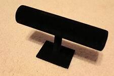 T Bar Black Velvet Jewelry Bracelet Watch Show Display Rack Holder Stand