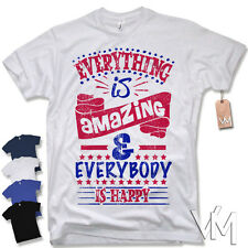 T-Shirt EVERTHING IS AMAZING AND ... - Vintage Retro Happy Fun Gr. S M L XL XXL
