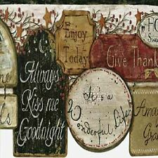 KISS ME GOODNIGHT COUNTRY ART  SET OF 4 COASTERS RUBBER WITH FABRIC TOP
