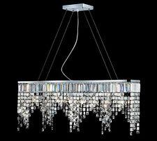 Pool Billiard Table Light Z-Lite Nyssa 8 Light Mini Crystal Island 858CH