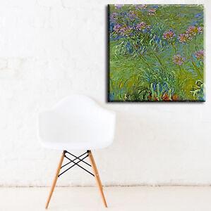 ZEIT4BILD Claude Monet Agapanthus Blumen BILDER LEINWAND REPRODUKTION GICLEE
