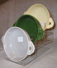 3 STEP RACK FOR FIESTA DEEP PLATES, CREAM SOUP BOWLS, ETC.   -PLEXIGLASS