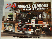 Affiche 24 Heures du Mans Camion  1987  RENAULT  RVI   Truck LKW   Poster