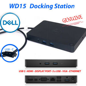 For Dell WD15 docking station K17A001 180W power supply mini-Display port USB-C