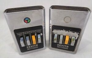 VINTAGE ZENITH Space Command TV REMOTE CONTROL UNTESTED 4-Button Lot of 2