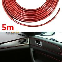 5M Auto Zubehör Auto Universal Interior Dekorative Rot Strip Chrome Shiny DIY