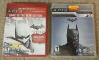 Batman: Arkham Origins & Arkham City PS3 (Sony PlayStation 3) Brand New Sealed
