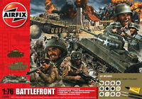 Airfix D-Day Battlefront Diorama Set W/ Tanks & Figures 1:76 Model Kit A50009A