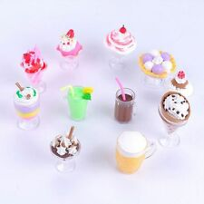 Transparent Tableware Dollhouse Plate DIY Toy Cups Mini Decor Dish