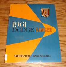 1961 Dodge Lancer Service Shop Manual 61