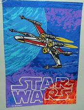 "STAR WARS X-WING FIGHTER NYLON BANNER/FLAG 1995 LUCASFILM 28"" X 40""  c6"