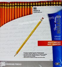 Paper Mate Mirado Classic Pencils HB #2 Pink Pearl Eraser Waxed Lead, 96 Count