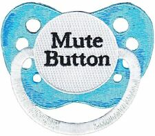 """Mute Button Pacifier Iron On Patch 2.2"""" x 2"""" Free Ship by C&D Visionary P-4206"""
