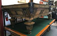 9' Brunswick Balke Collender Manhattan Antique Pool Table - Circa 1896
