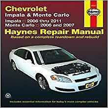 Haynes CHEVROLET IMPALA 06-11 LS LT LTZ SS POLICE Owners Service Manual Handbook