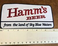 """Hamm's Beer patch 6"""" x 3"""" Iron or sew-on Low price!"""