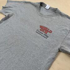 Vintage 1996 World Gym Maryland T-Shirt Gray Large