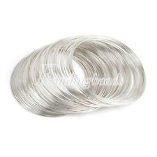 100 loops 0.6mm 60mm Memory Steel Wire Cuff Bangle Bracelet DIY Jewelry Making