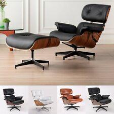 Eams Lounge Chair und Ottoman Replica Lehnstuhl Sessel Echtes Leder Schwarz