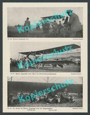 VIENNE-Aspern 3. Flugwoche Hellmuth Hirth Ernst von loessl avion Albatros 1914