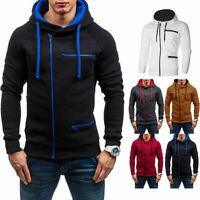 2019 Winter Men's Warm Hoodie Hooded Sweatshirt Coat Jacket Outwear Jumper Tops
