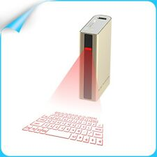 Mini Laser Projection Bluetooth Virtual Keyboard with 5200mAh Power Bank Mouse