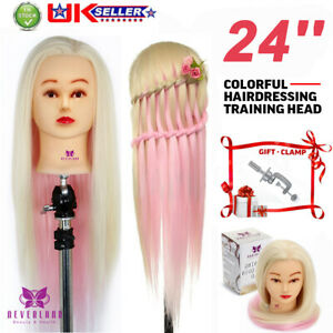 """Neverland Beauty 24"""" Synthetic Hair Head Training Head Mannequin Hairdressing UK"""