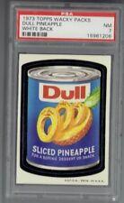 1973 Topps Wacky Packages Dull Pineapple PSA 7 White Back