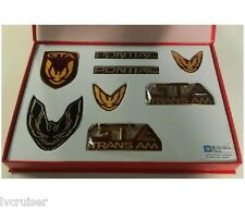 Trans Am GTA Emblem Kit - FLAME RED - 8 Piece Kit for 87-90 Firebird TA GTA