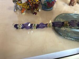 Amethyst, citrine, peridot hand made necklace