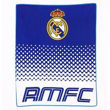 REAL MADRID CF Couverture en laine polaire grande nouvelle OFFICIEL FOOTBALL