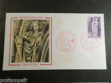 FRANCE 1976, FDC 1° JOUR, CROIX ROUGE, SAINTE BARBE, timbre 1910, RED CROSS