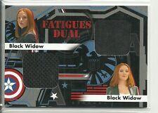 Captain America Winter Soldier Fatigues Dual Swatch Relic # FD-15 Black Widow SP