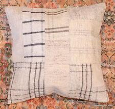 Genuine Turkish handwoven kilim cushion (50*50cm,20*20in) patchwork/whitecheck12