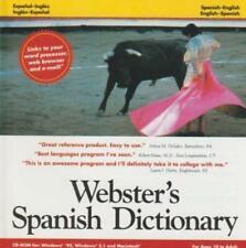 Webster's Spanish/English Dictionary PC MAC CD Espanol-Ingles translation tool!
