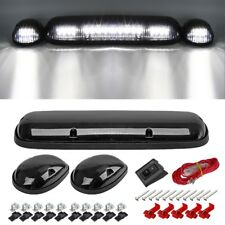 3PC Smoke Cab Roof Running White LED Lights for 02-07 Chevy Silverado/GMC Sierra