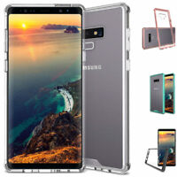 For Samsung Galaxy Note 9 Hybrid Soft TPU Shockproof Bumper Clear Case Cover