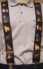 "Suspenders 2""x48"" FULLY Elastic Animal Dogs assorted large breeds NEW"