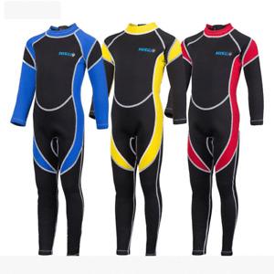 Hisea 3mm Neoprenanzug Kinder Neopren Nassanzug Schwimmanzug Surfanzug New