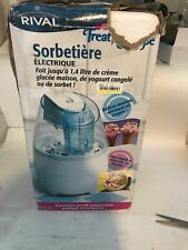 Rival Gel Disc Ice Cream Maker Gc9151 1.5 Qt with Recipes included.(Box Damaged)