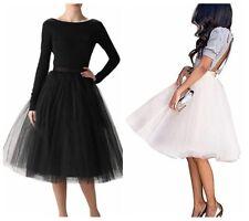 Women Tulle Tutu Skirt A Line Dress Princess Multilayer Ballet Dance Adult Skirt