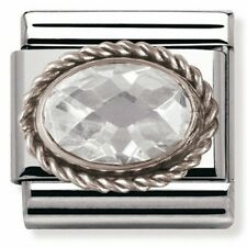 GENUINE Nomination Classic Silver Stone Charm 330603 330604