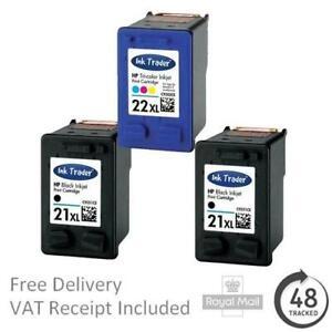 Premium Remanufactured 21XL Black & 22XL Colour Ink Cartridges For HP Printers