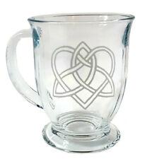Celtic Love Knot Coffee Mug: Free Personalization, 16 ounce Glass Tea Cup