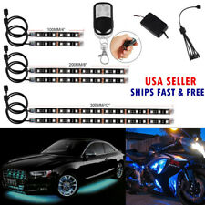 6pcs Million Color Flexible Strip Motorcycle 36 LED NEON Accent Lighting Kit