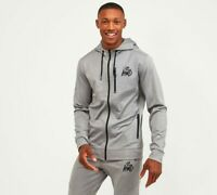 Kings Will Dream KWD Mens New Track Top Poly Zipped Hoodie Grey Marl Reflective