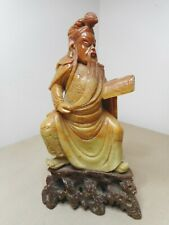 OLD CHINESE CARVED JADE STATUE OF AMAZING  QUALITY